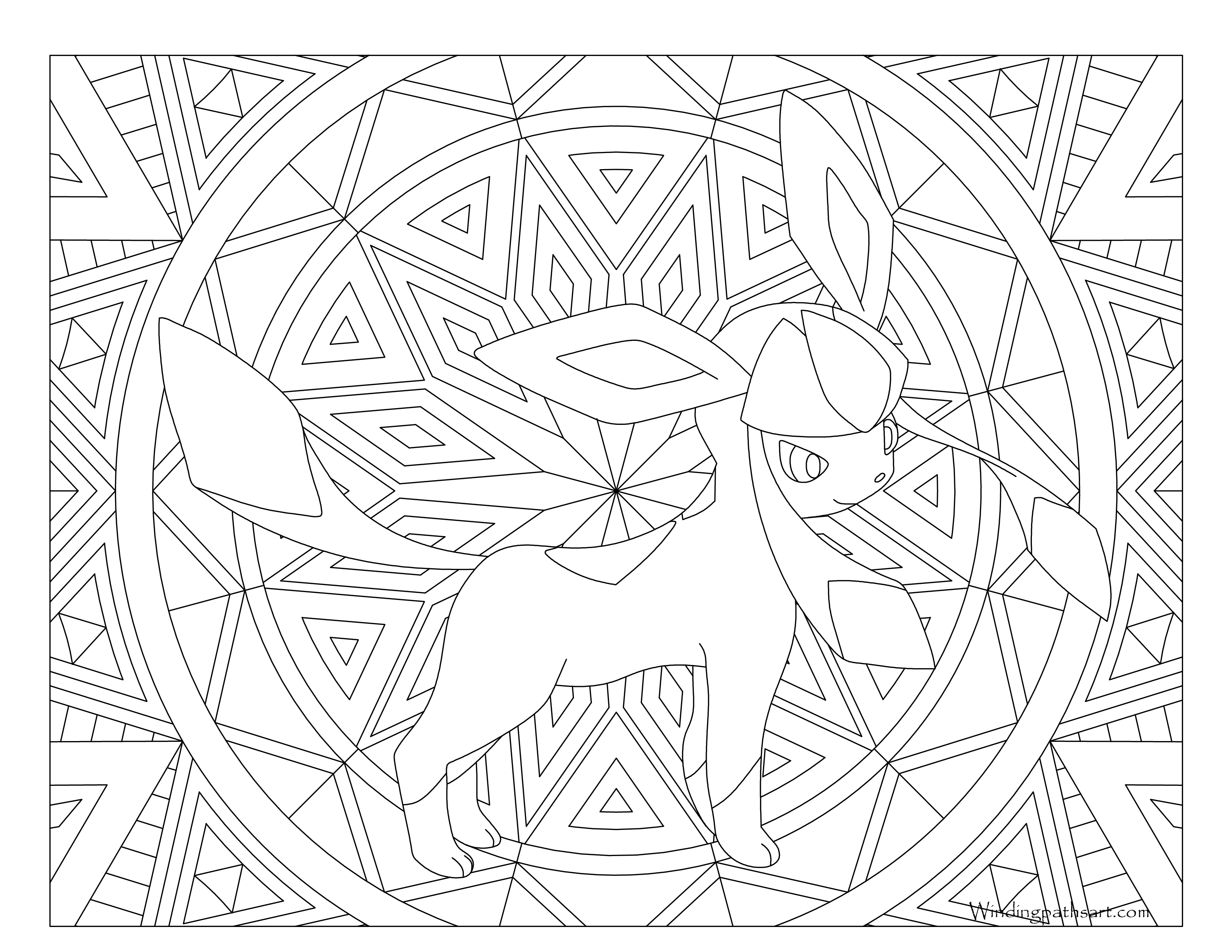 glaceon coloring pages 471 Glaceon Pokemon Coloring Page · Windingpathsart.com glaceon coloring pages