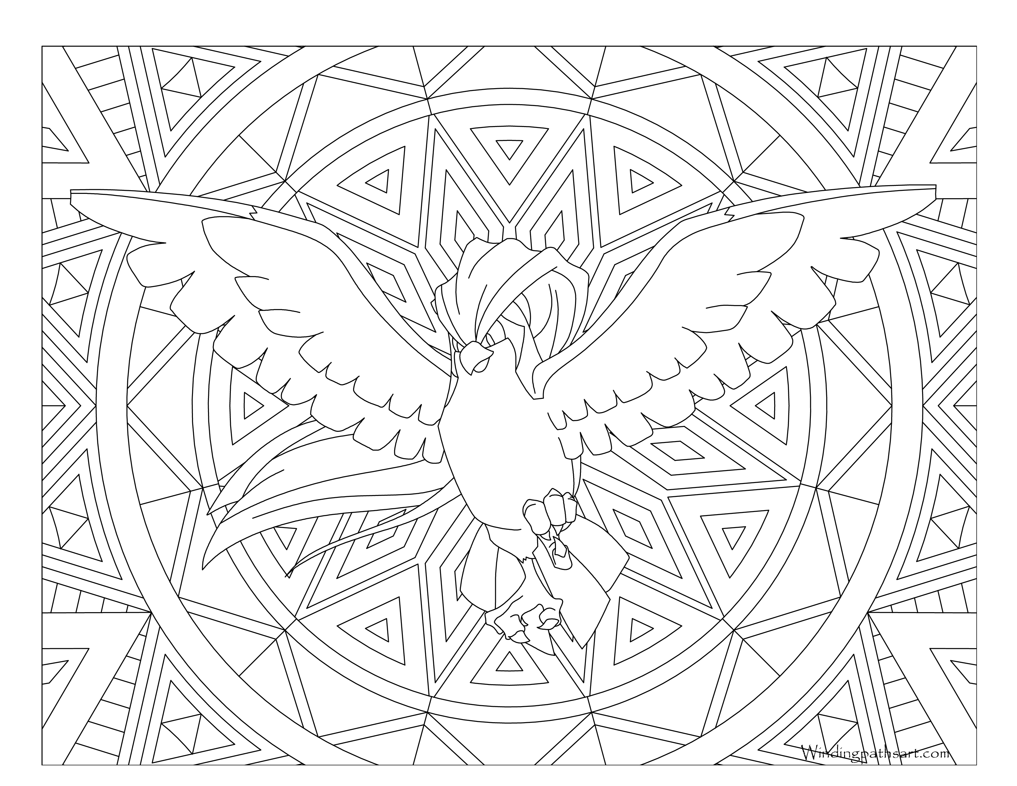 Pidgeot Coloring Pages Coloring Pages
