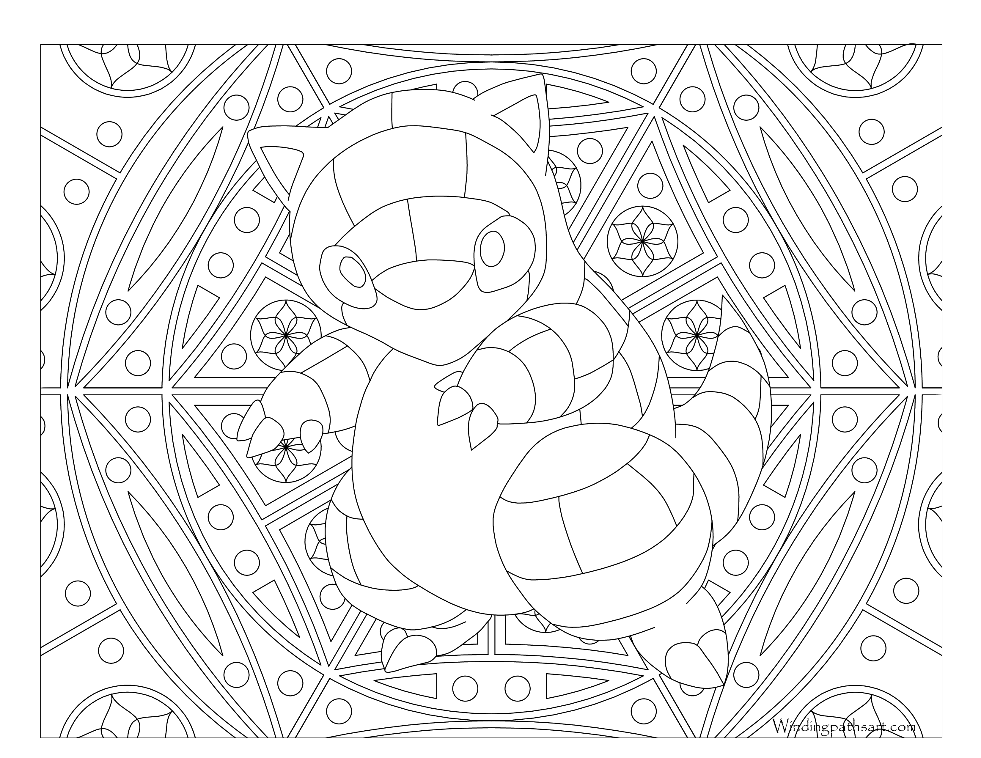 pokemon sandshrew coloring pages - photo#26