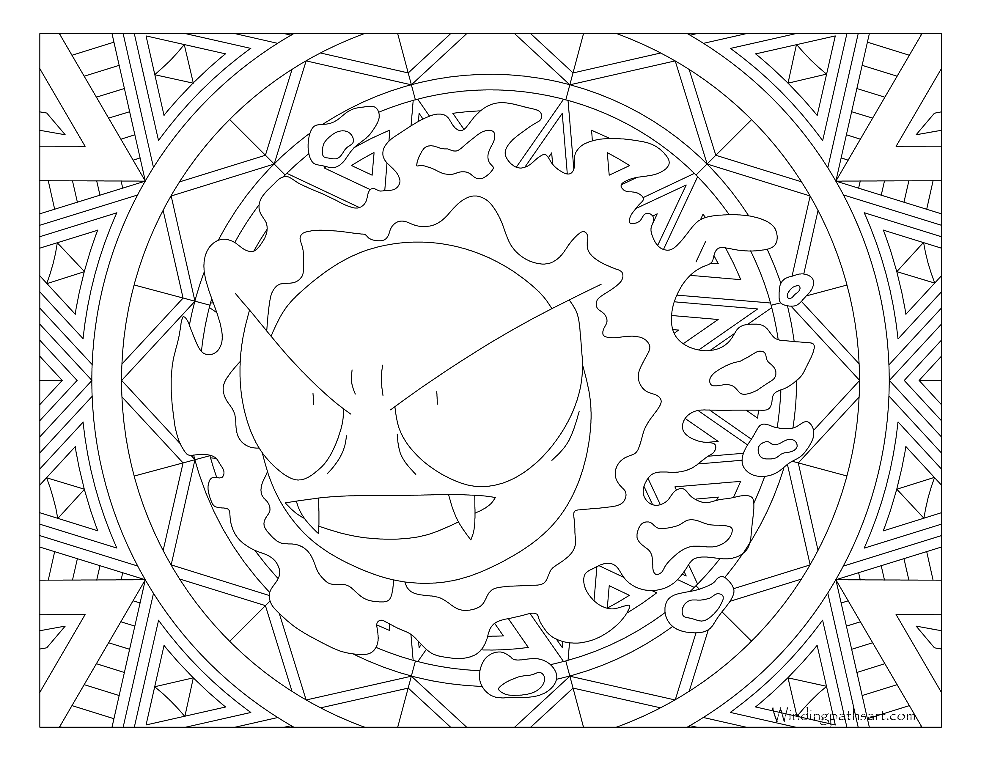 Gastly Pokemon Coloring Pages Images