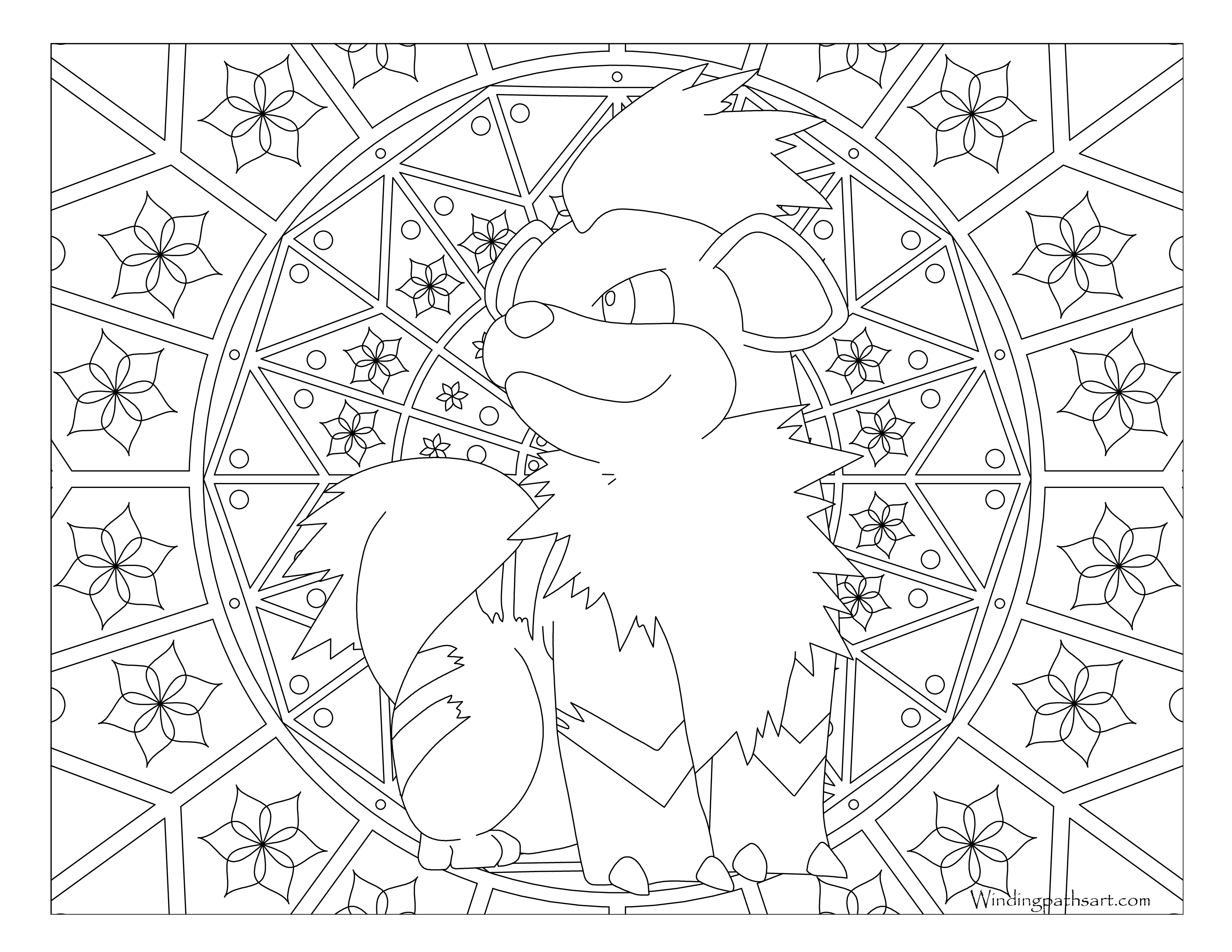 Growlithe Pokemon Coloring Pages Www Topsimages Com
