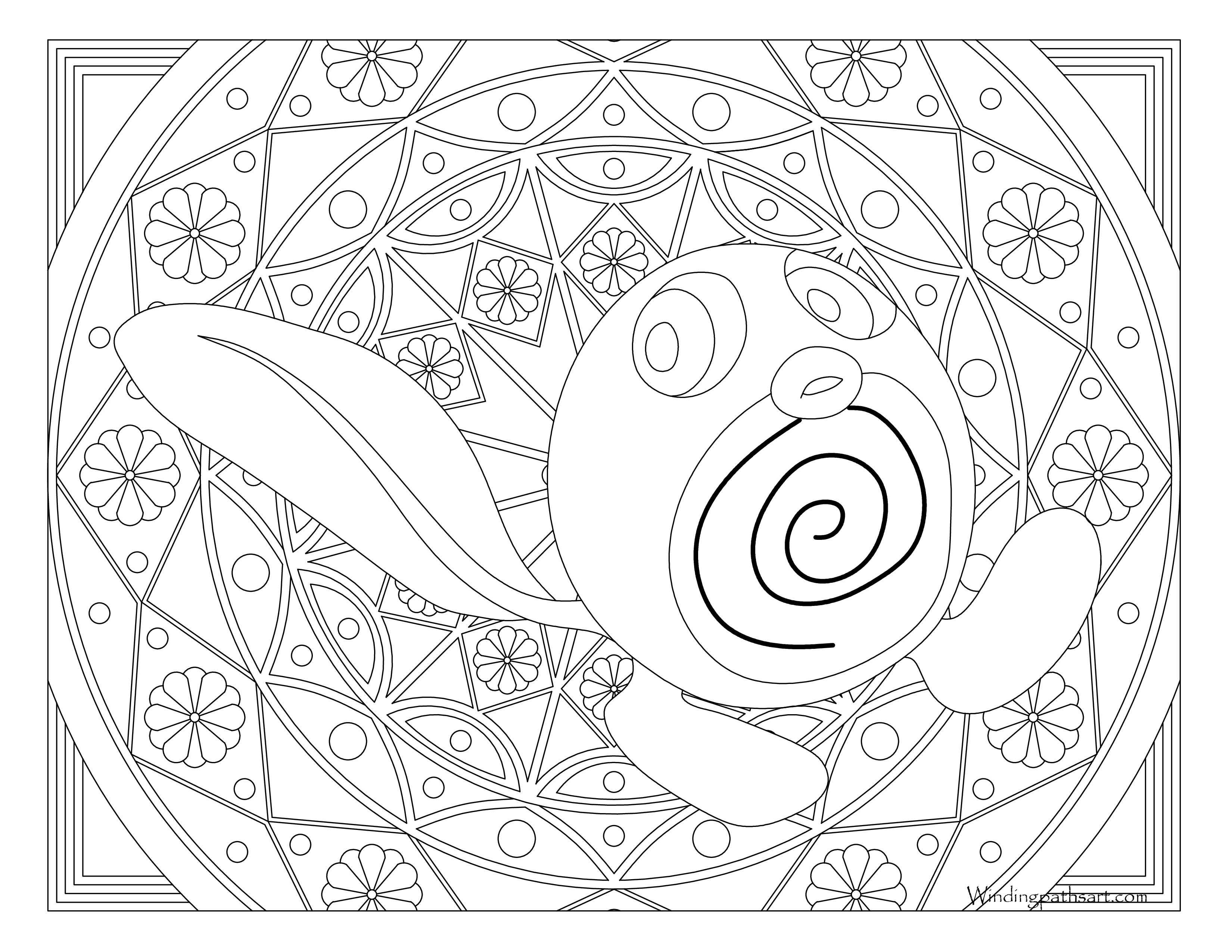 060 Poliwag Pokemon Coloring Page 183 Windingpathsart Com