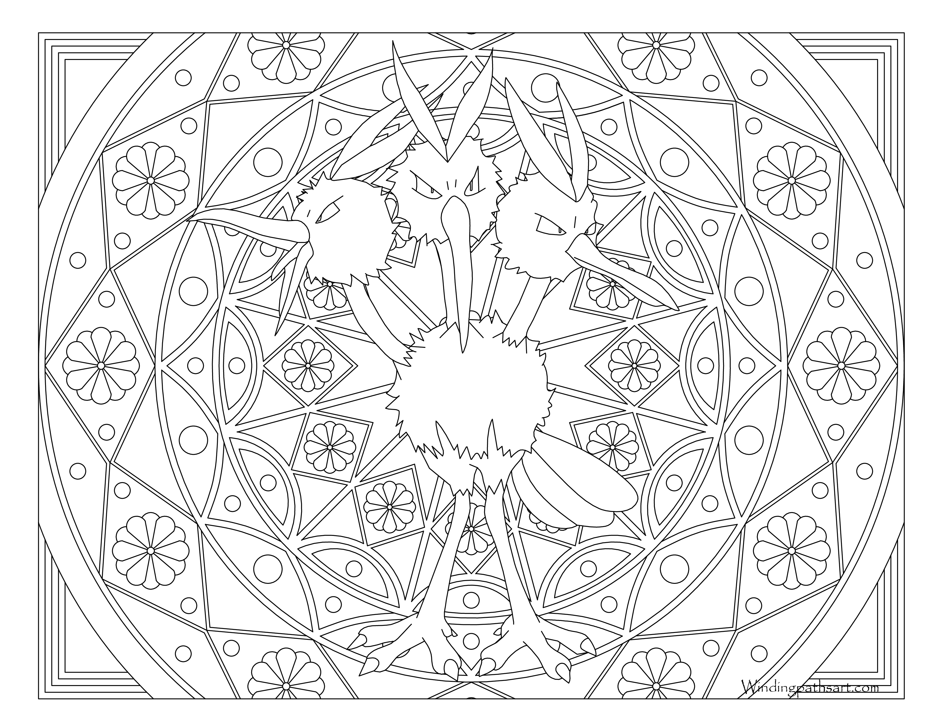 085 Dodrio Pokemon Coloring Page