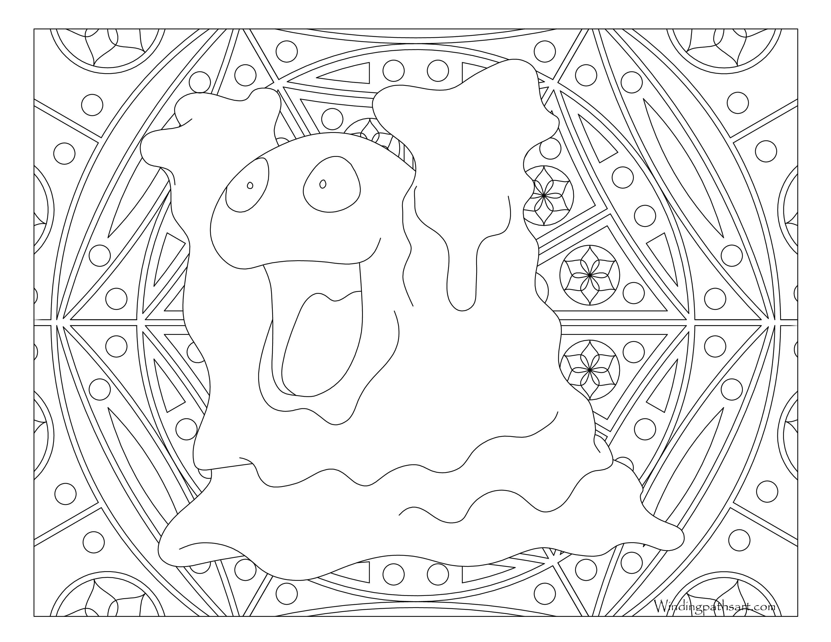 089 Muk Pokemon Coloring Page 183 Windingpathsart Com