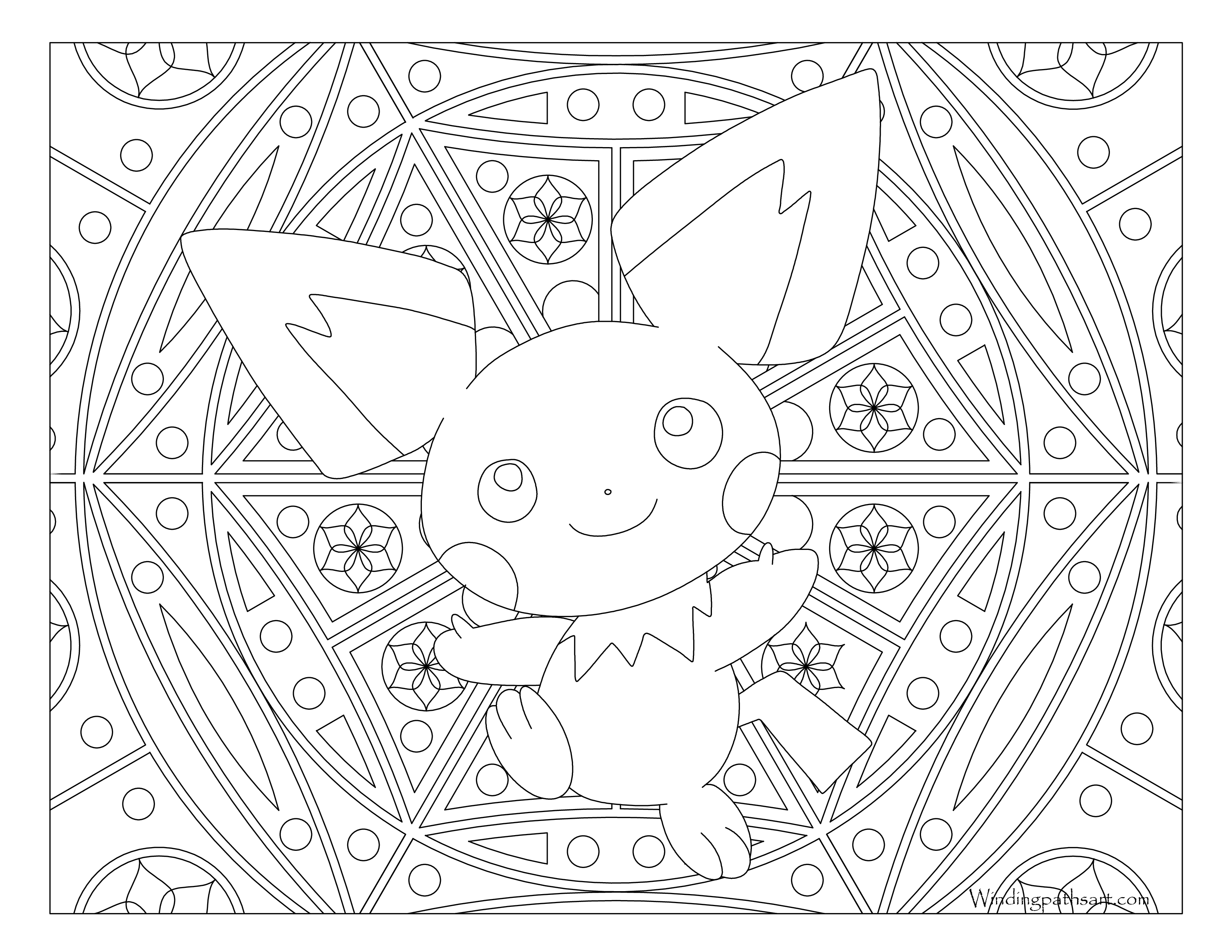 172 pichu pokemon coloring page for Pichu coloring pages