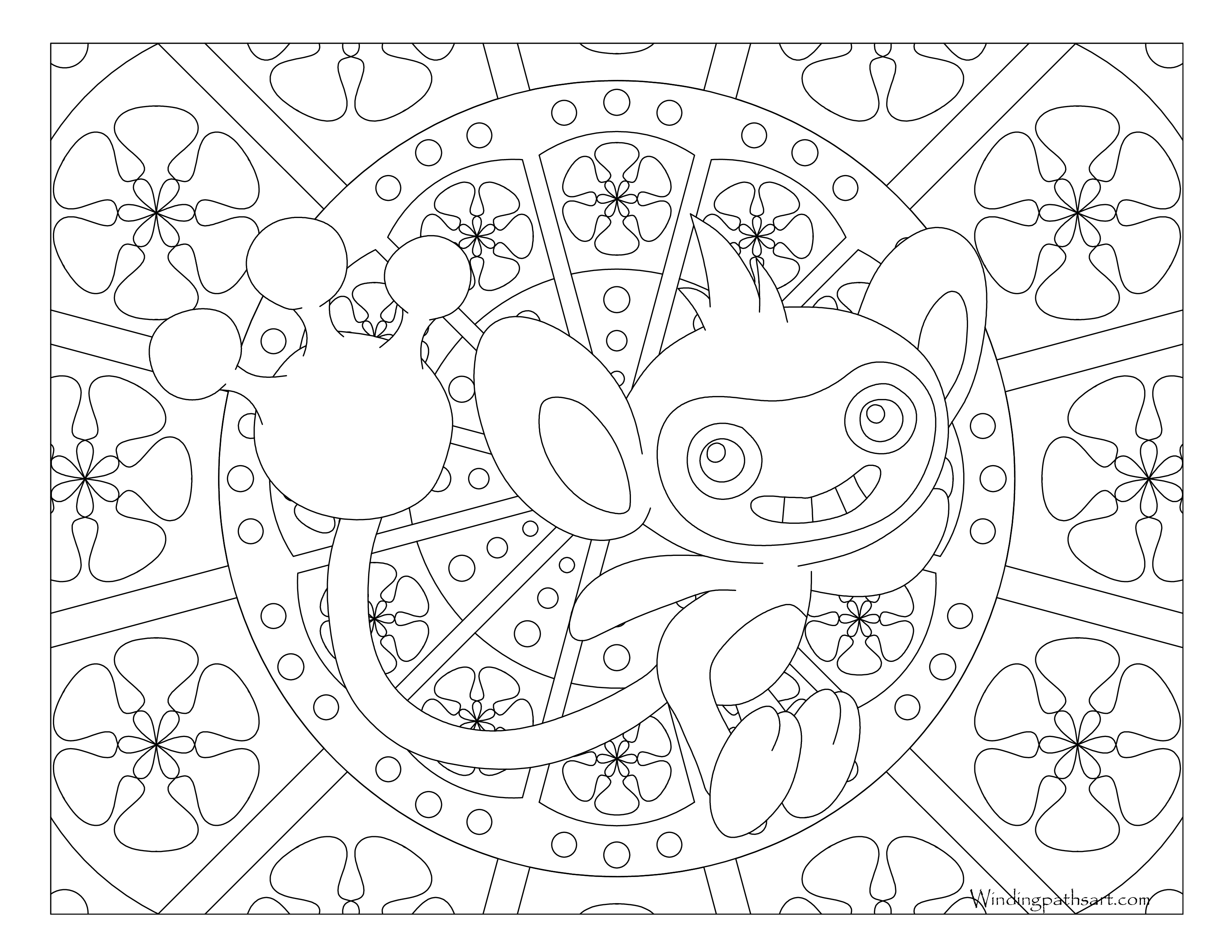 Pokemon Aipom Coloring Pages