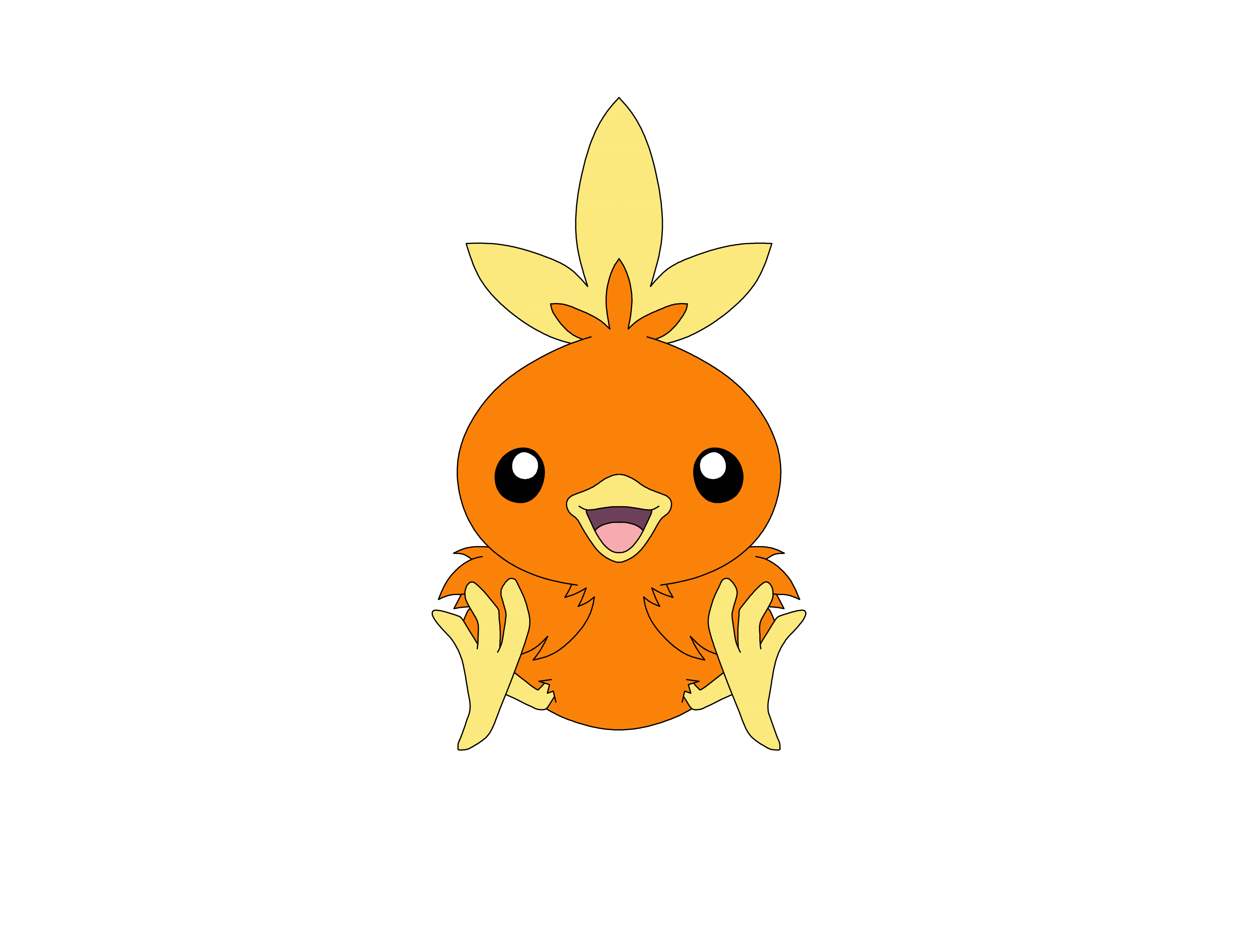 How To Draw Pok 233 Mon Torchic In 10 Steps 183 Windingpathsart Com