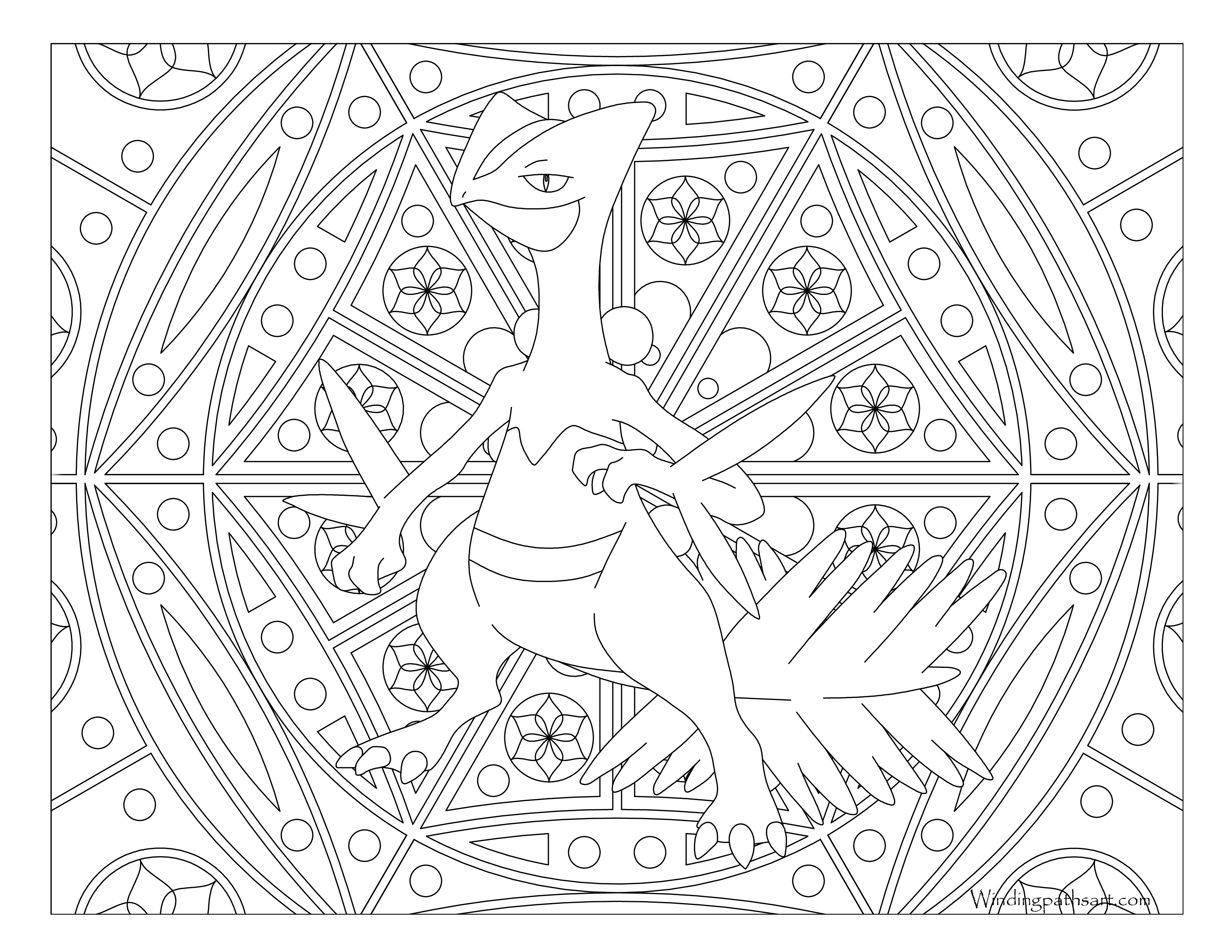 87 Pokemon Coloring Pages Sceptile