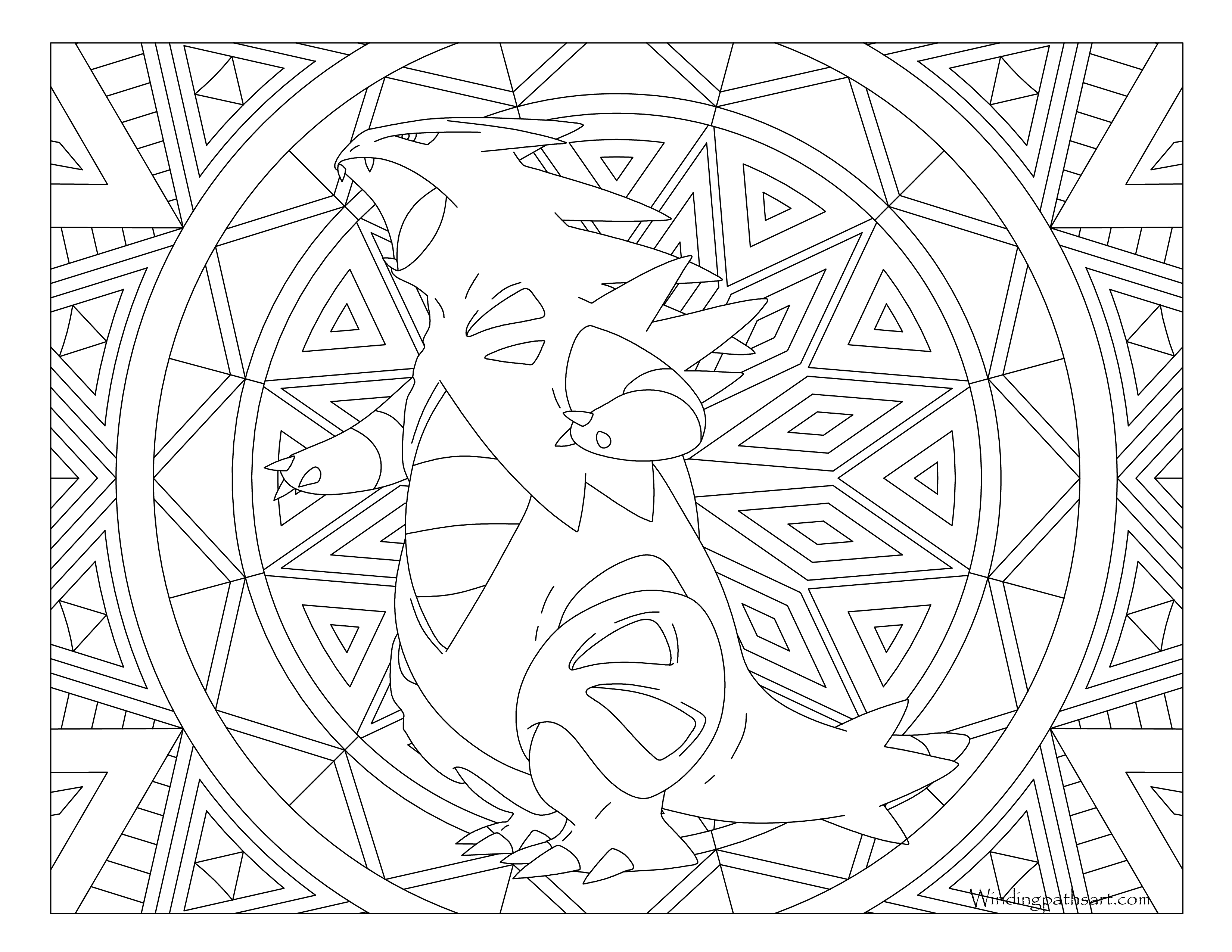 #248 Tyranitar Pokemon Coloring Page · Windingpathsart.com