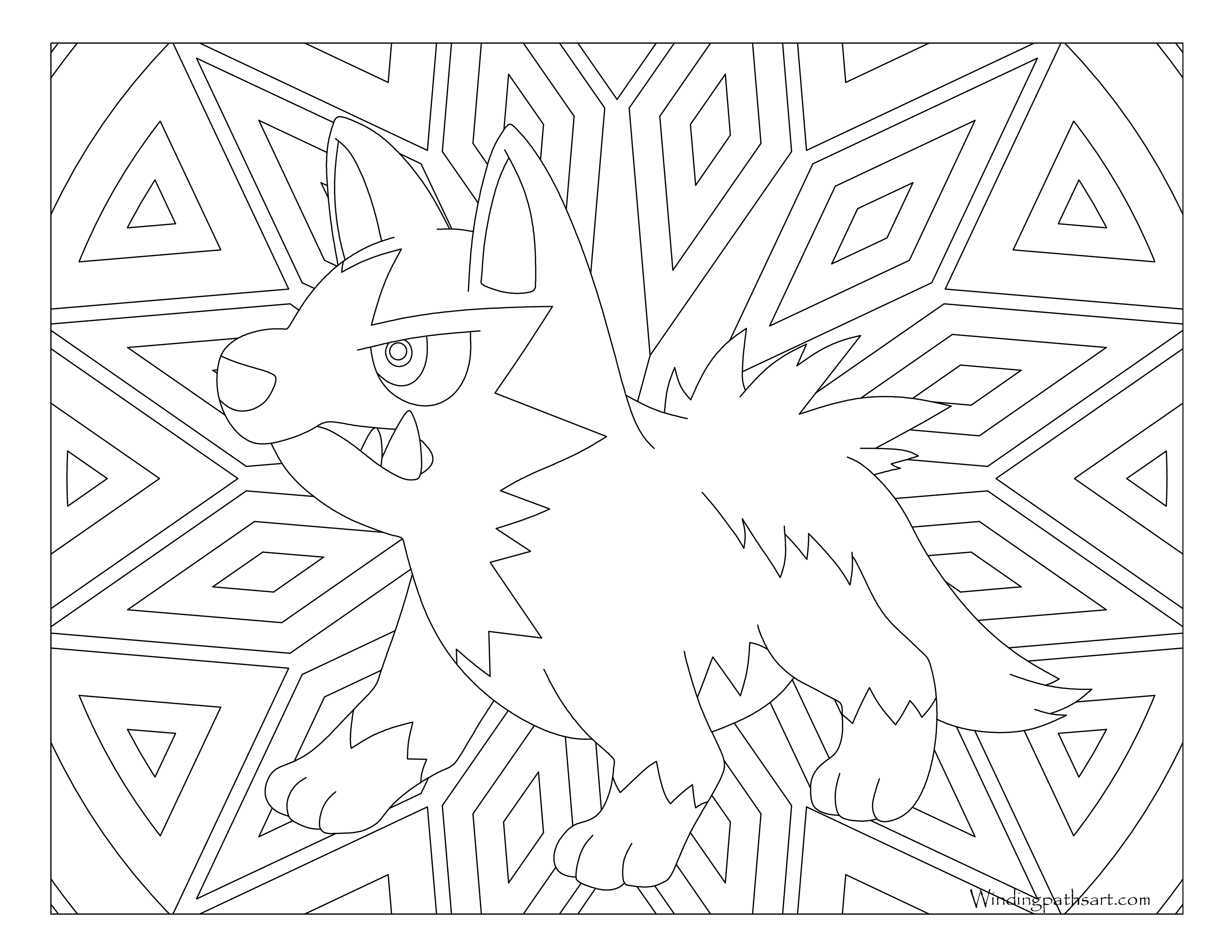mightyena coloring pages - photo#38