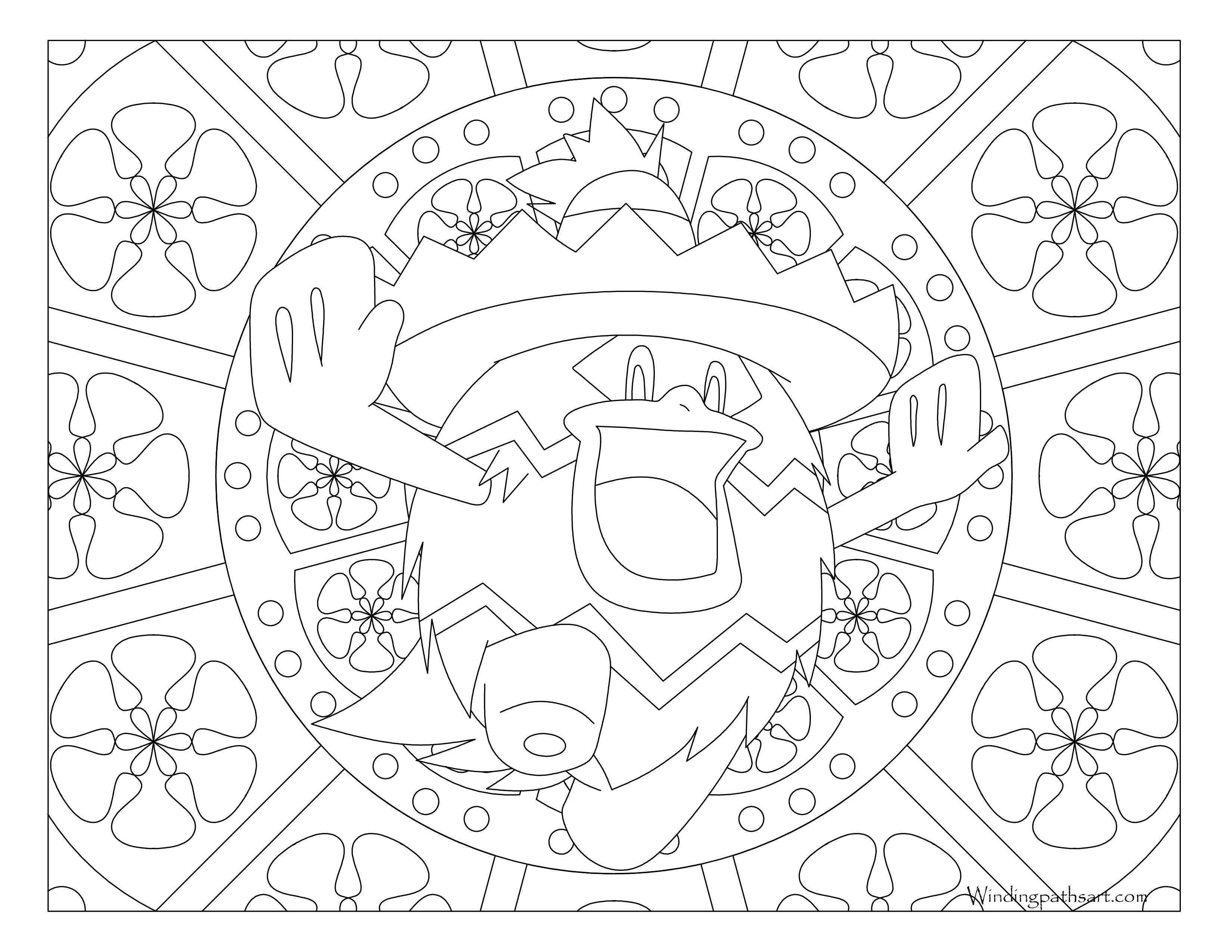 #272 Ludicolo Pokemon Coloring Page · Windingpathsart.com