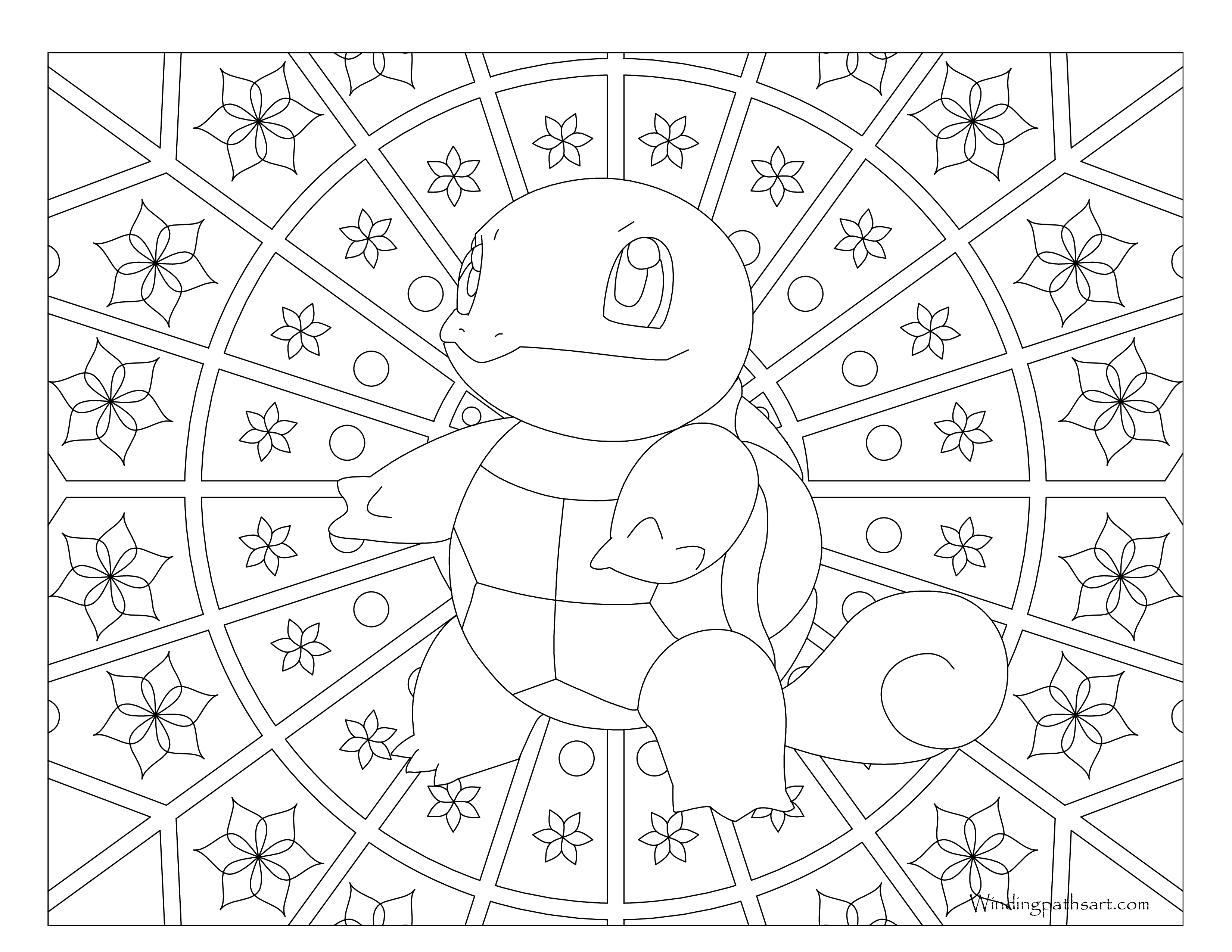 007 Squirtle Pokemon Coloring Page Windingpathsart Com