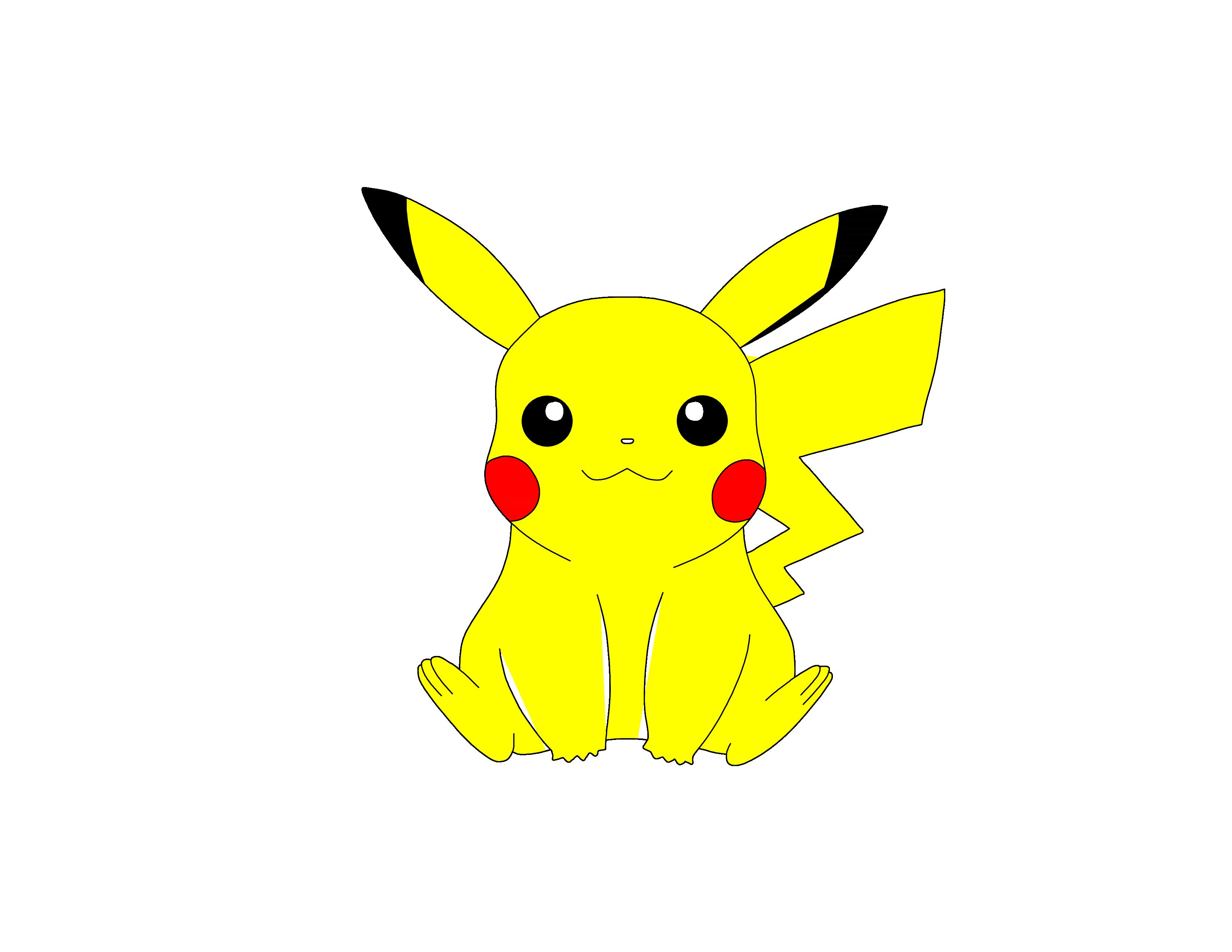 How to draw Pokémon Pikachu in 10 steps · Windingpathsart.com