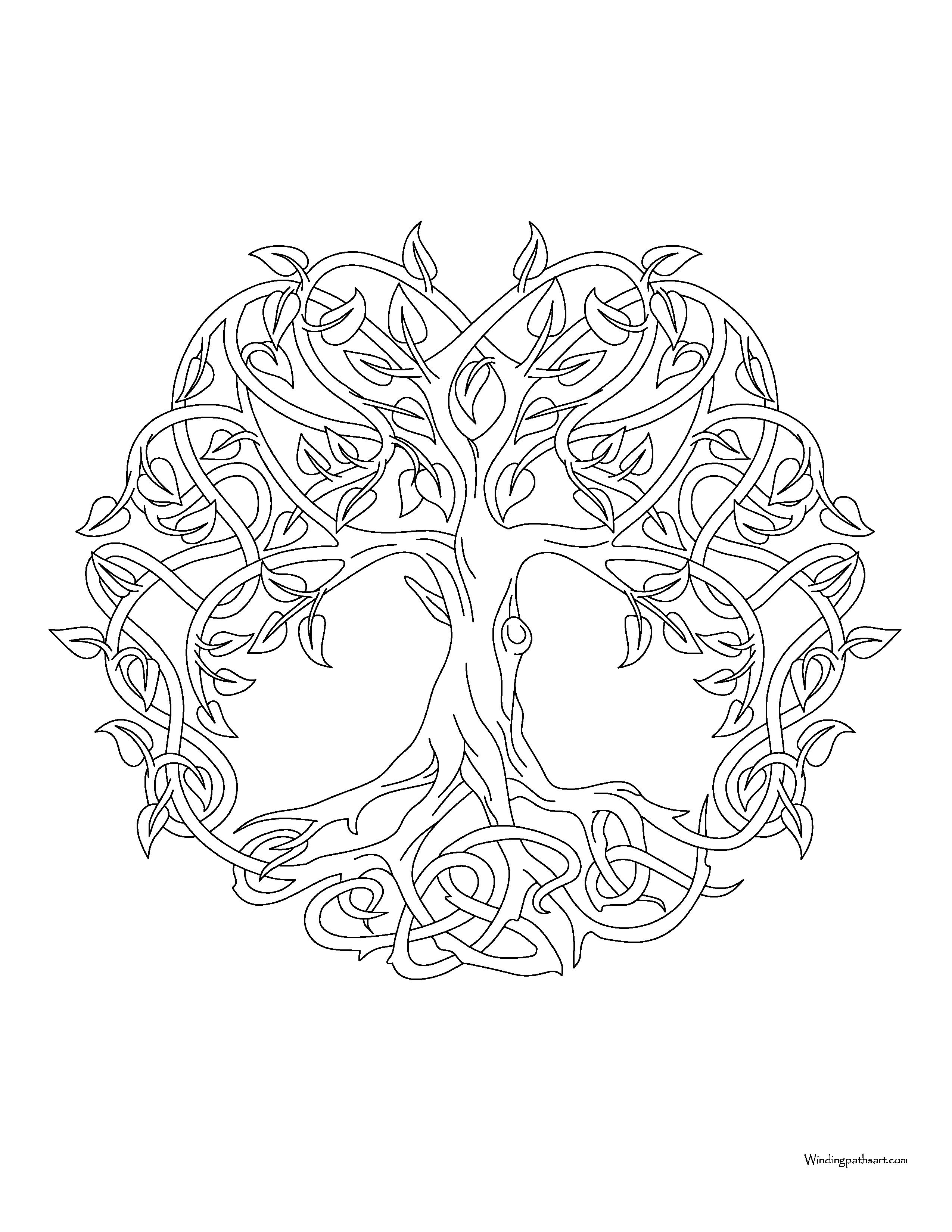 mandala 111 · windingpathsart
